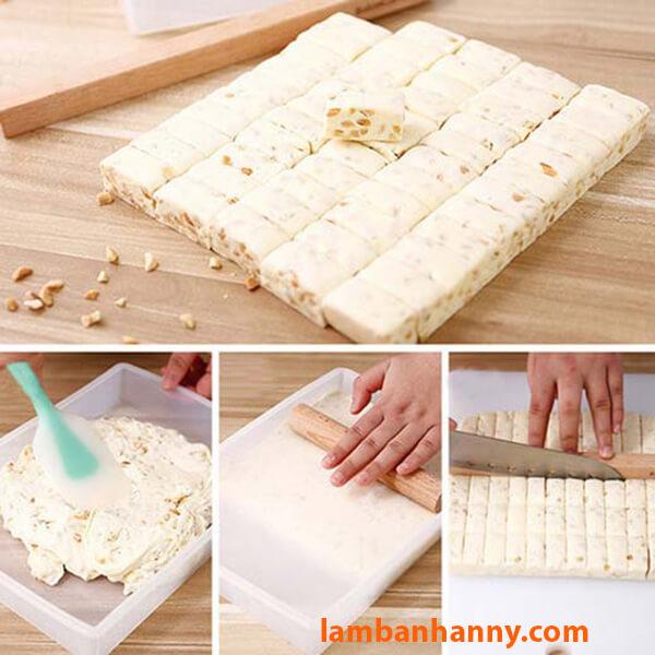 Làm kẹo nougat với bộ dụng cụ 5 chi tiết rất dễ dàng