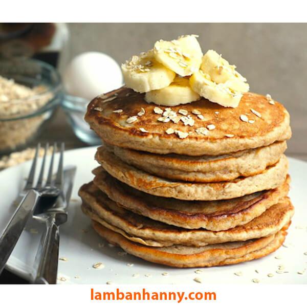 Món bánh pancake yến mạch vô cùng dễ làm