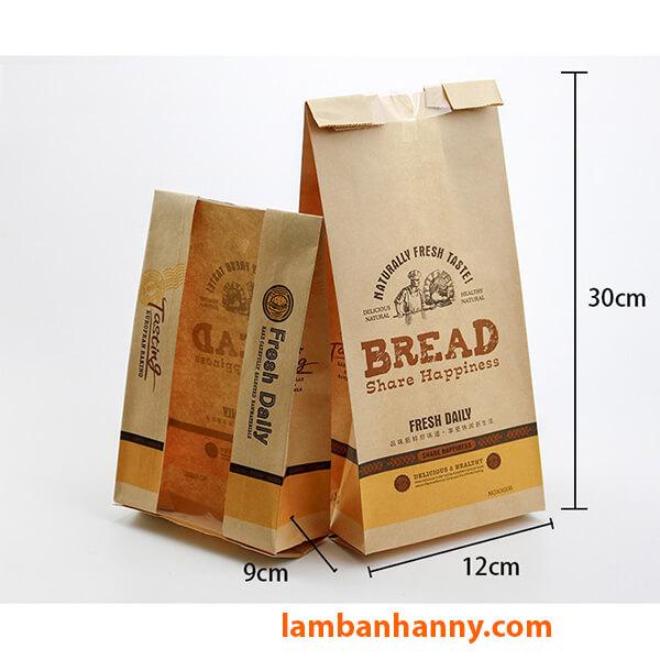 Mặt trước và mặt sau của chiếc túi