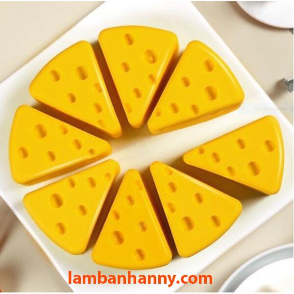 Miếng cheesecake phô mai siêu đáng yêu