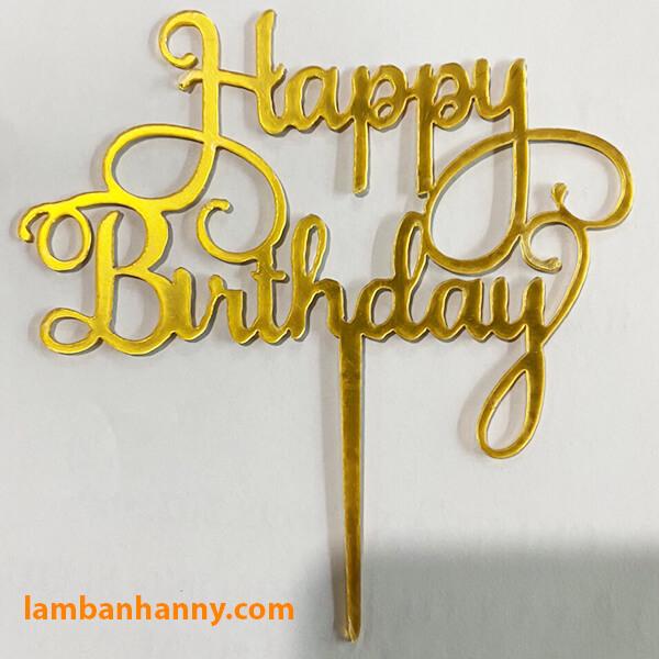 Que cắm Happy Birthday - mẫu 1