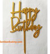 Que cắm chữ Happy Birthday mẫu 10
