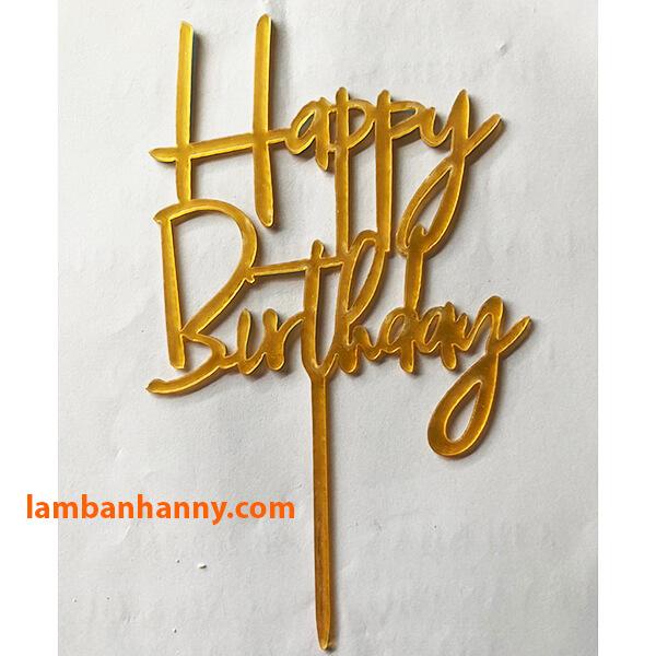 Que cắm Happy Birthday - mẫu 10