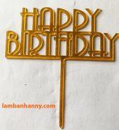 Que cắm chữ Happy Birthday mẫu 11