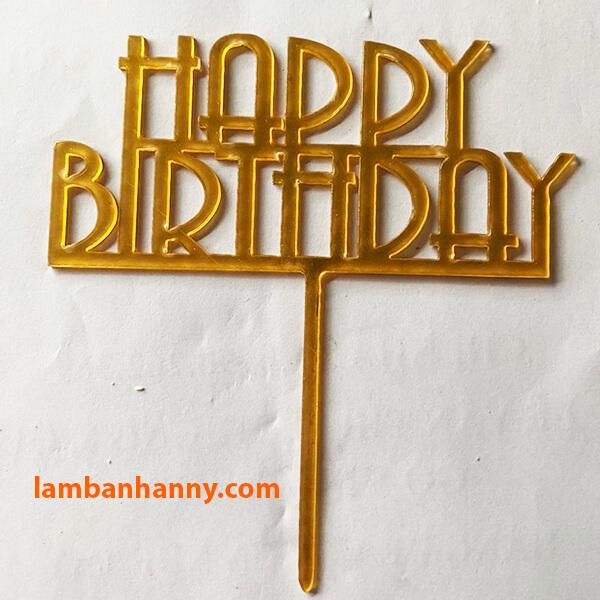 Que cắm Happy Birthday - mẫu 11
