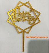 Que cắm chữ Happy Birthday mẫu 2
