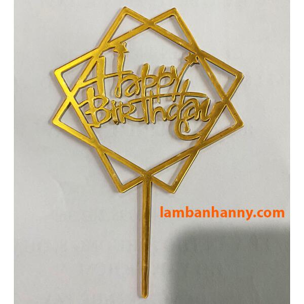 Que cắm Happy Birthday - mẫu 2