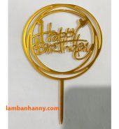 Que cắm chữ Happy Birthday mẫu 3