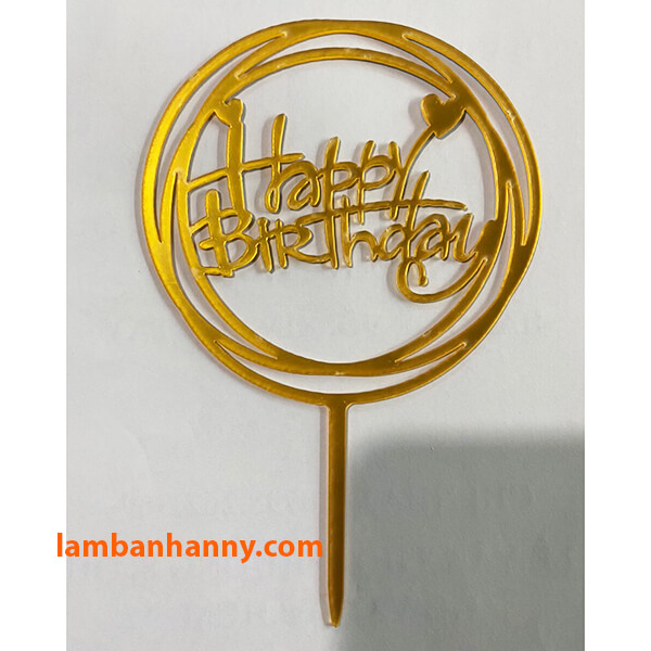 Que cắm Happy Birthday - mẫu 3