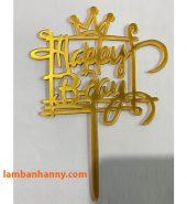 Que cắm chữ Happy Birthday mẫu 4