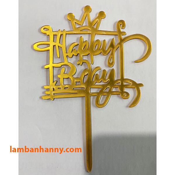 Que cắm Happy Birthday - mẫu 4