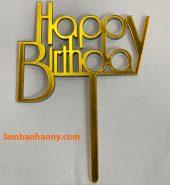 Que cắm chữ Happy Birthday mẫu 7