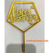 Que cắm chữ Happy Birthday mẫu 8