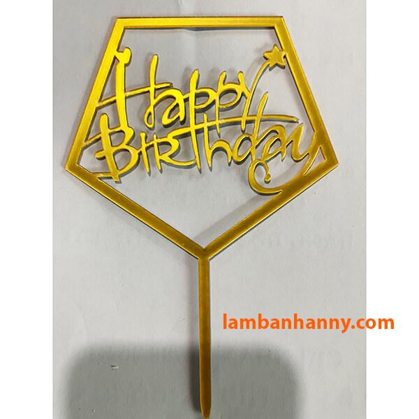 Que cắm Happy Birthday - mẫu 8