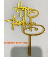 Que cắm chữ Happy Birthday mẫu 9