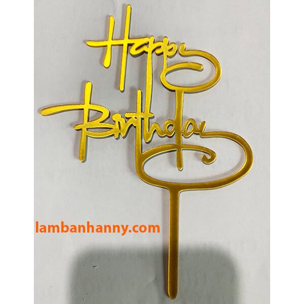 Que cắm Happy Birthday - mẫu 9