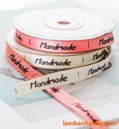 Cuộn ruy băng chữ Handmade 1cmx22m