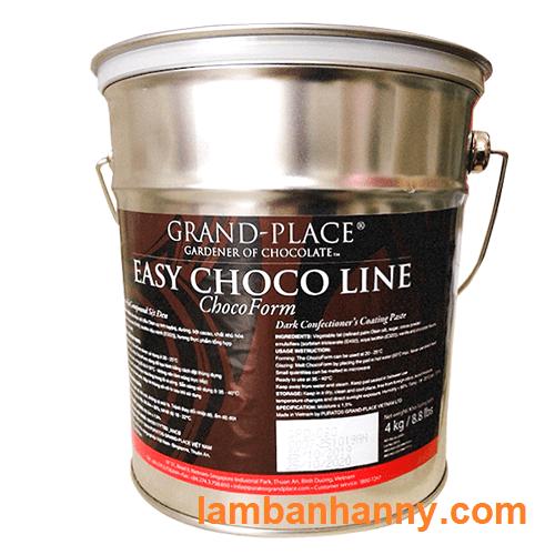 Socola sệt đen Puratos - xô 4kg