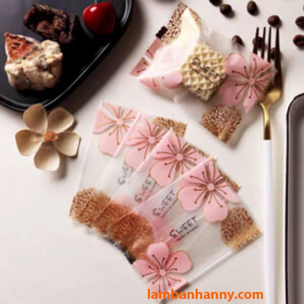 Túi đựng bánh quy Hoa anh đào Sweet