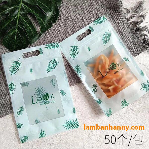 Túi Zip đựng bánh - mẫu 4