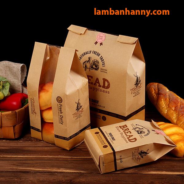 Túi dùng để đựng các loại bánh mì, bánh quy, tùy theo nhu cầu sử dụng