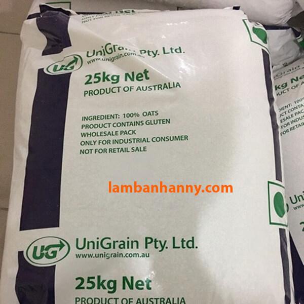 Yến mạch Úc UniGrain cán dẹt - bao 25kg