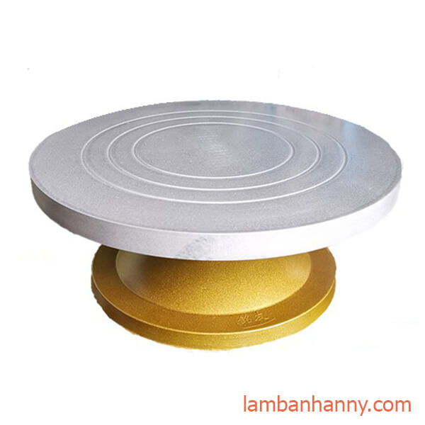 bàn xoay đúc nhựa đế vàng