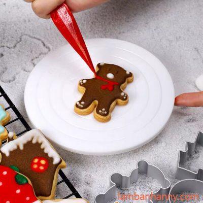 bàn xoay mini trang trí bánh cookies