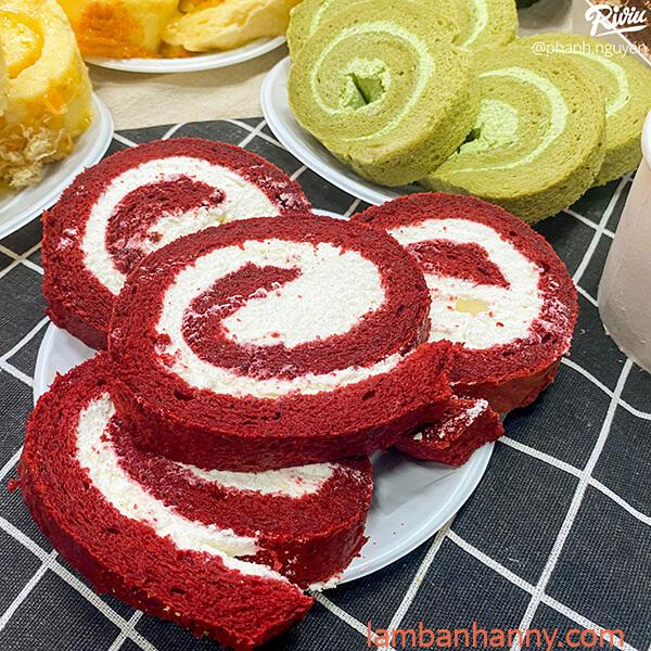 bánh bông lan cuộc red velvet