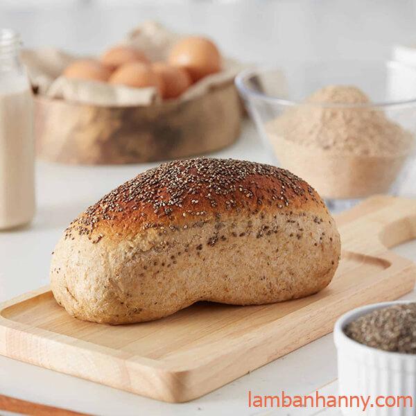 bánh mì nguyên cám mật ong hạt chia