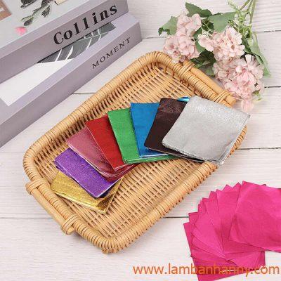 giấy bọc socola nhiều màu sắc