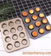 Khuôn bánh cupcake 12 ô mini