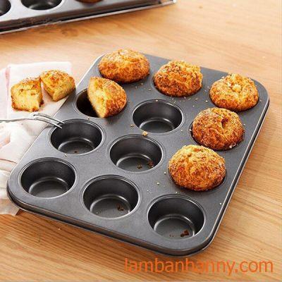 khuôn bánh cupcake mini 12 ô