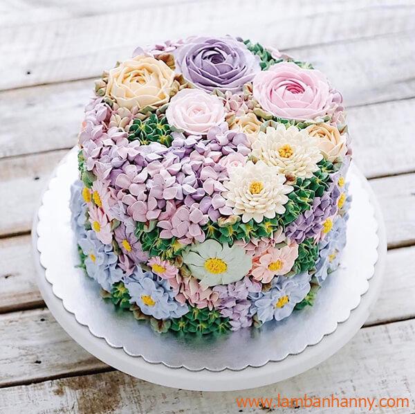 nhiều bông hoa được bắt bằng nhiều đui khác nhau