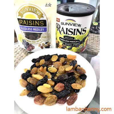 nho kho raisins Mỹ