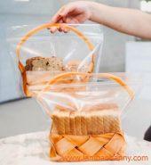Túi Zip đựng bánh mì hình giỏ hoa