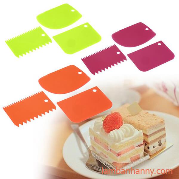 Bộ 3 tấm nhựa tạo viền bánh kem