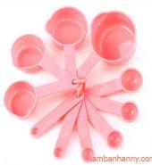 Bộ cup đong nhựa hồng