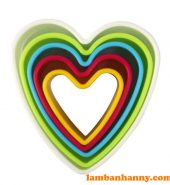 Bộ cutter nhựa hình trái tim