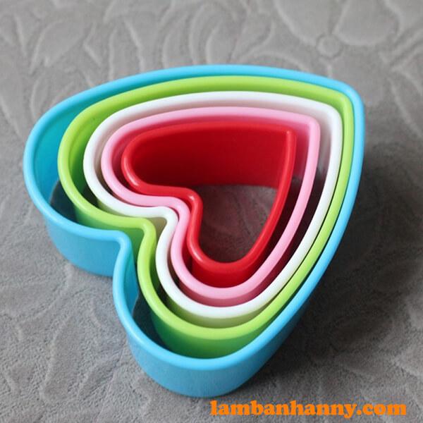 Bộ khuôn cutter nhựa hình trái tim-3