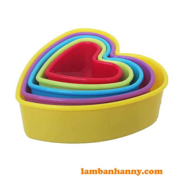 Bộ khuôn cutter nhựa hình trái tim