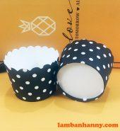 Cup giấy đen chấm bi 5cm