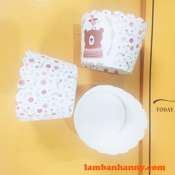 Cup giấy hình con gấu 5cm-2