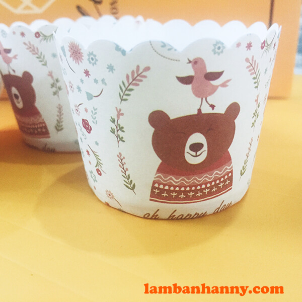 Cup giấy hình con gấu 5cm