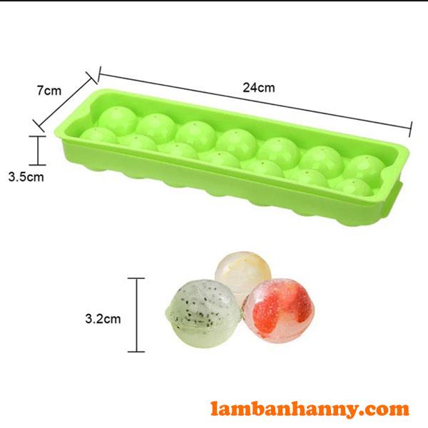 Kích thước khuôn nhựa mochi 14 ô