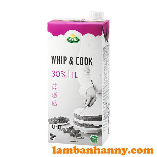 Kem tươi Whip & Cook Arla 1L