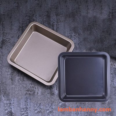 Khay vuông chống dính AMI 22x22xh4cm