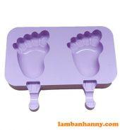 Khuôn kem silicon 2 bàn chân em bé