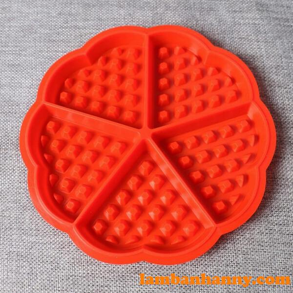 Khuôn silicon 4D bánh quế hình tim