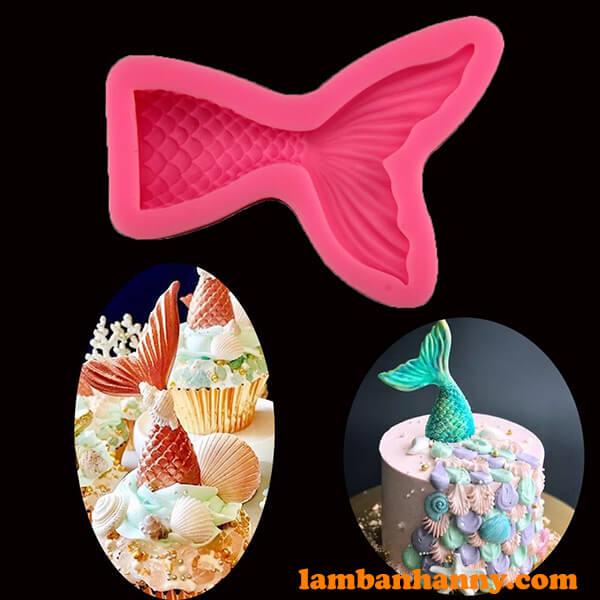 Khuôn silicon 4D hình đuôi cá